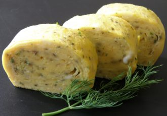 チャイブの卵焼き